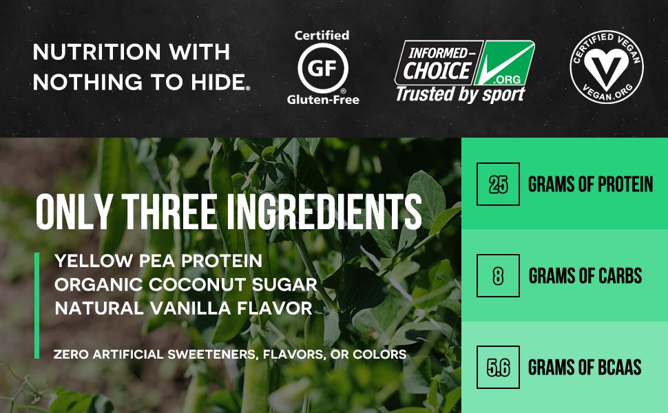 vanilla vegan protein powder, vanilla pea protein powder, vanilla vegan protein shakes, vegan pea