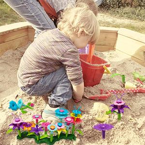 Outdoor game garden beach park flower building bricks toys