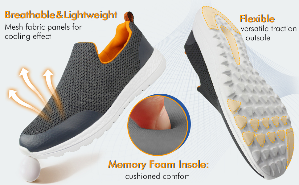 Your feet will thank you for the supportive comfort and sporty style of this shoe.