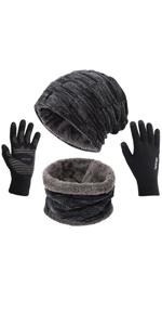 hat gloves scarf set men