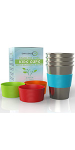Cups for Kids and Toddlers 8 oz. with Sleeves