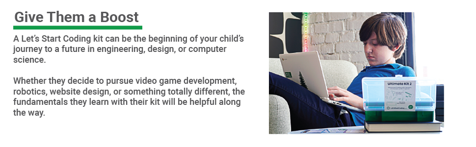 Kids can learn the same coding concepts that apply to video games, household gadgets, and more