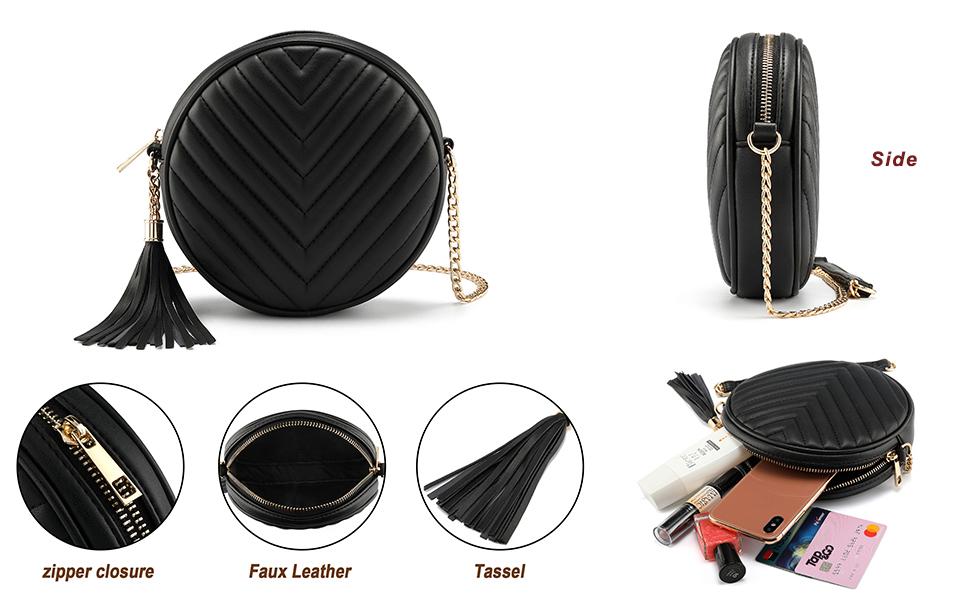 Women Luxury Crossbody Shoulder Bag with Zipper Clutch Purse