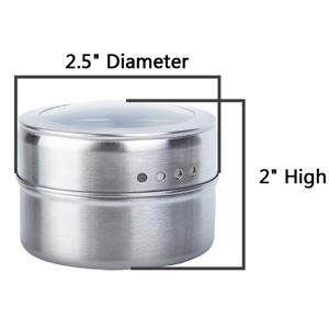 12pcs Magnetic Spice Tins