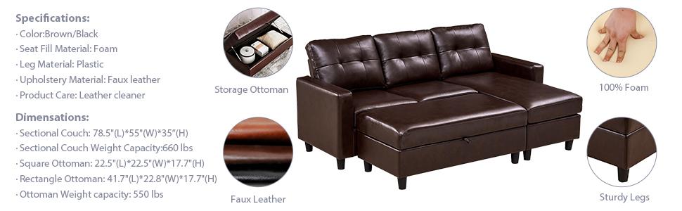 HONBAY Sectional Sofa