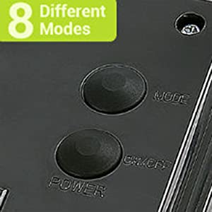 8 Different Lighting Modes