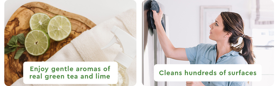 Puracy Natural Multi-Surface Cleaner - Enjoy gentle aromas of real green tea and lime