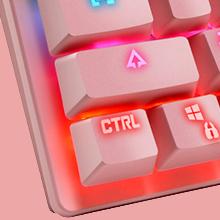 Mechanische Spieletastatur Programmierbare Elektronik