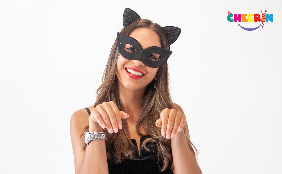 cat paw, cat woman costume,cat party accessories woman, black cat mask,cat ear, cat ears, woman