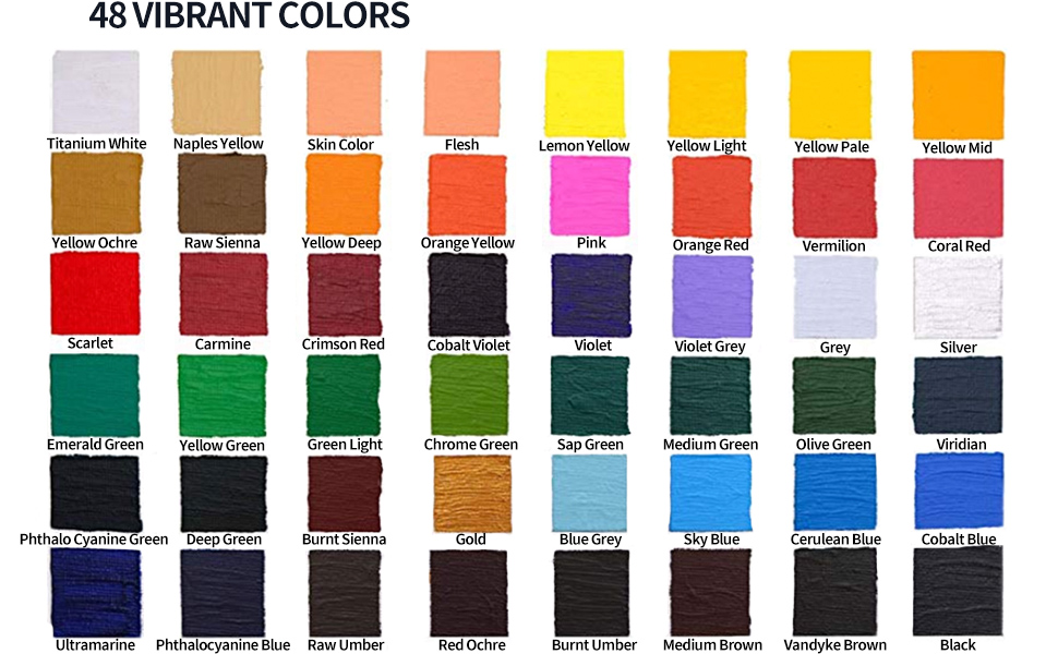 48 vibrant colors