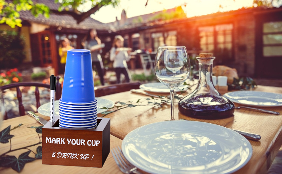 solo cup holder with marker