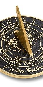 Golden Large sundial