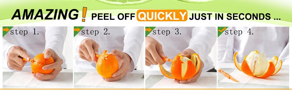 Orange Peeler Tools Citrus Peel Cutter Plastic Fruit Vegetable Slicer Cutter
