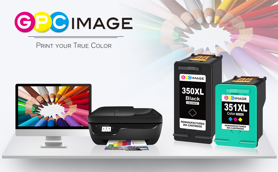 GPC Image 350/351XL remanufactured ink cartridge replacement for HP 350/351XL ink cartridge