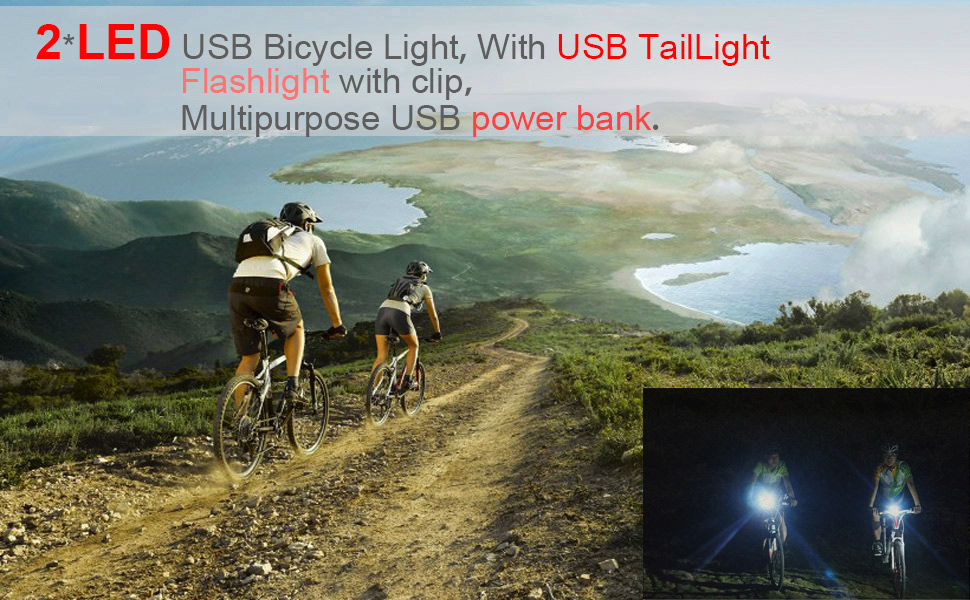 4pcs 3 Modes Waterproof MTB Bike LED Warning Lights Bicycle Silicone Flashlight