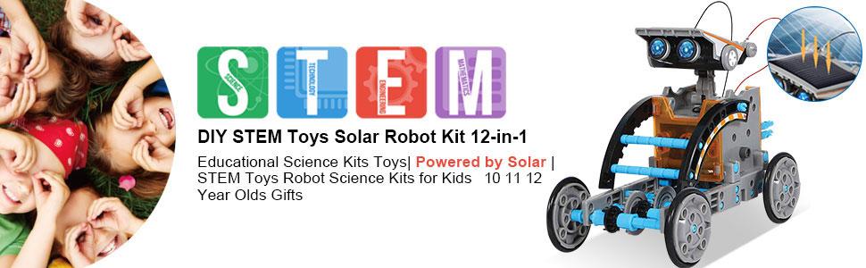 Kid's assembled robots