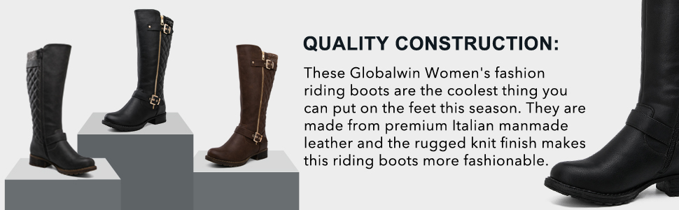 These Globalwin Women's fashion riding boots are the coolest shoes