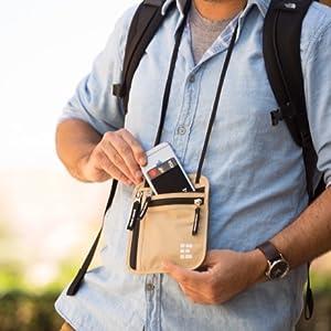 Neck Wallet Passport Holder