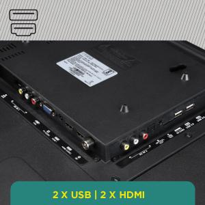 2 x USB   2 x HDMI