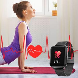 Heart rate smartwatch finess watch