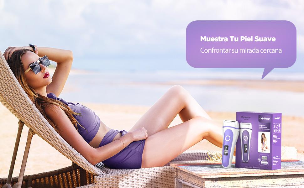 Depiladora electrica Mujer,DynaBliss Afeitadora Femenina Uso en Seco y Húmedo, para Zona Intima, Cara, Piernas,Bikini con Pantalla LED: Amazon.es: Salud y cuidado personal
