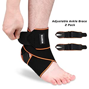 Shengerm Ankle Support Foot Wrap Ankle Brace Ankle Guard Adjustable Foot Strap Rolled Sprained Foot Guard Stabilizer Sleeve for Running