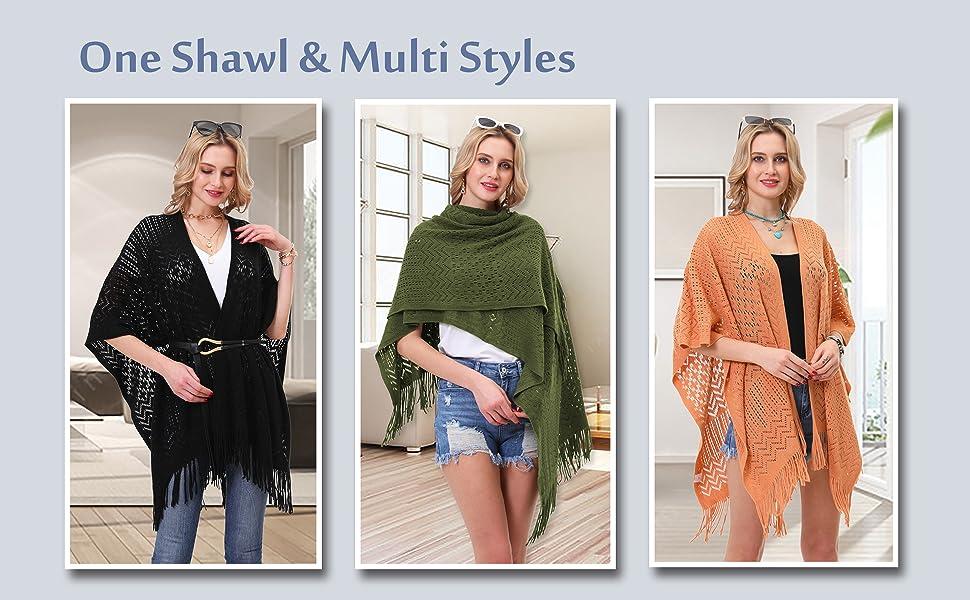shawl wrap women knit