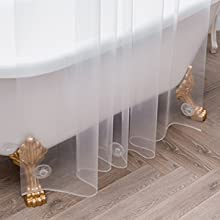 clear thin shower curtian liners
