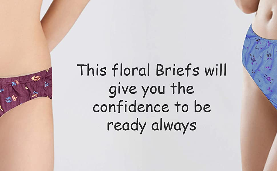 Panties soft comfortable for women floral colourful Women Stylish cotton soft material
