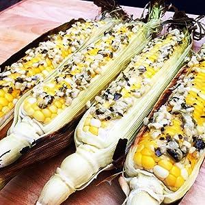 Cilantro Jalapeno Garlic Roasted Corn