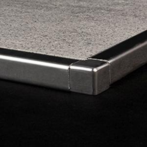 kein Abbl/ättern m/öglich PREMIUM FUCHS Innenecke H: 8mm Viertelkreisprofil Aluminium Eloxiert silber matt Vollmaterial