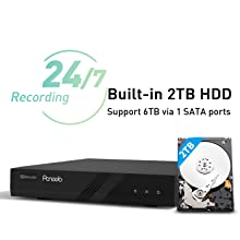 Pre-Installed 2TB HDD Expandble PoE Camera System