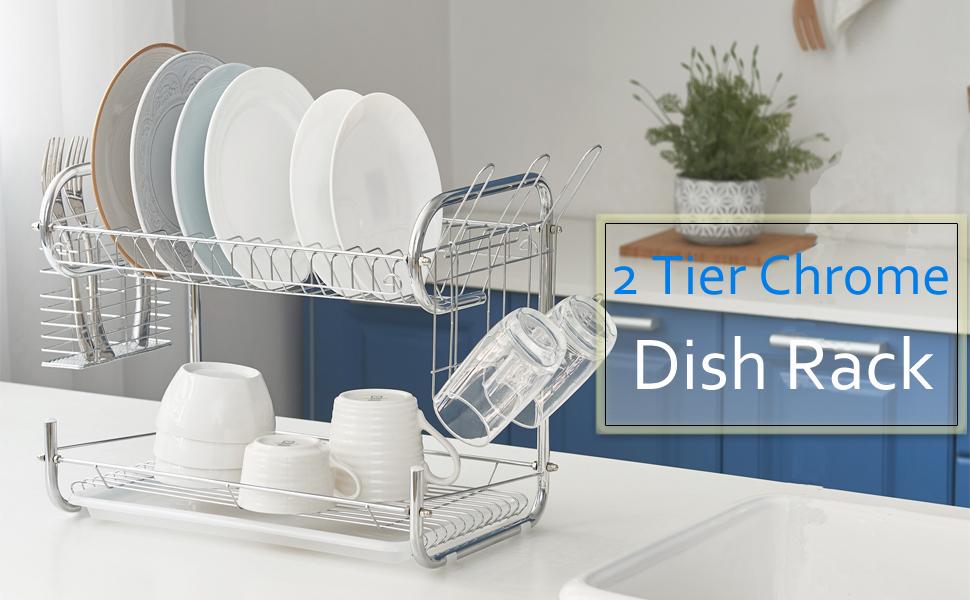 2 Tier dish rack