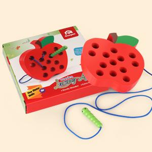 Apple Lacing Plastic Threading Toy