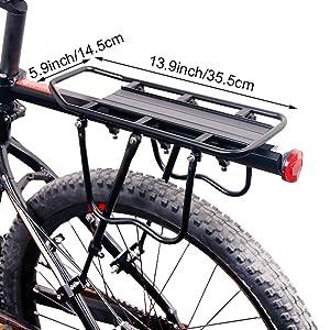 ThreeH Bicicleta Trasera Rack Aluminio Ciclismo Ajustable portaequipajes con Reflector BK43: Amazon.es: Deportes y aire libre