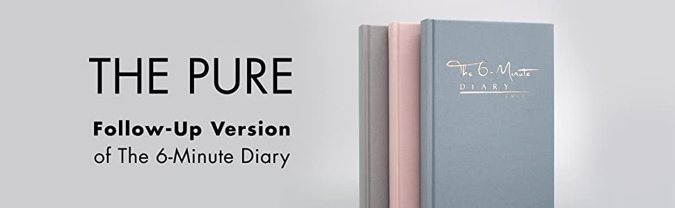 The 6-Minute Diary, Pure, Mindfulness, Journaling, Habit, Gratitude, Journal, Happiness, Routines