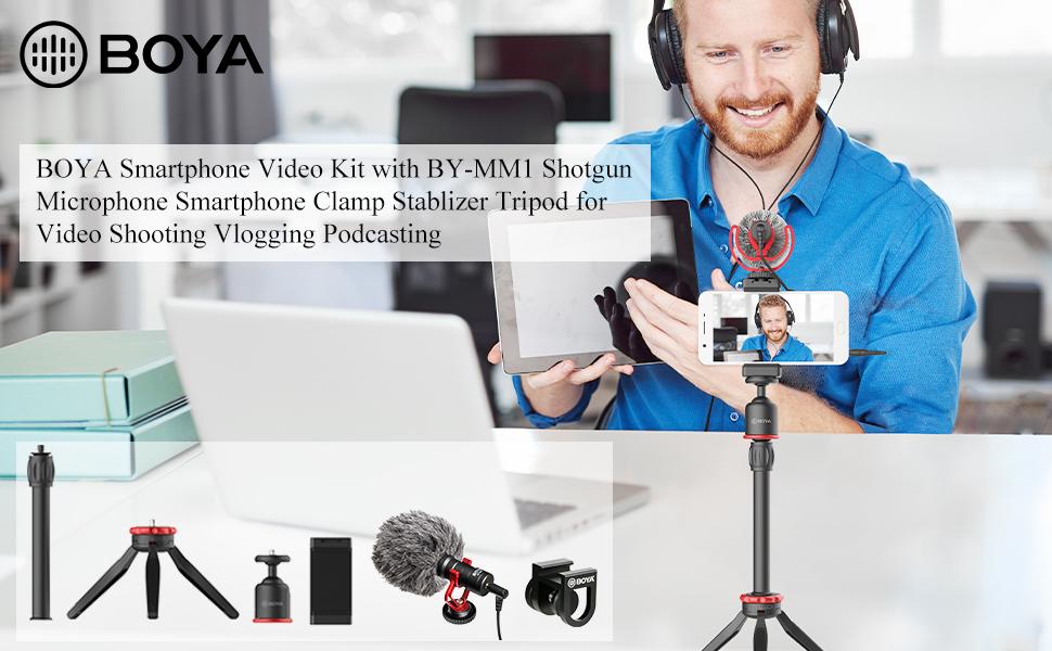 boya by-mm1 video camera smartphone audio kit