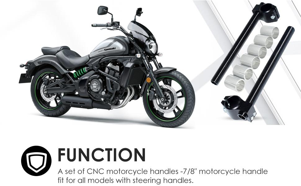 Amazon Com Manillar De Motocicleta Cnc Cafe Racer Ajustable φ24 31mm Clip En La Horquilla De La Barra De La Manija De Reemplazo Automotive