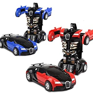 Robert Car, Transformed Robert car, Baby toy car, Bumblebee Robert car, Glado Robert car