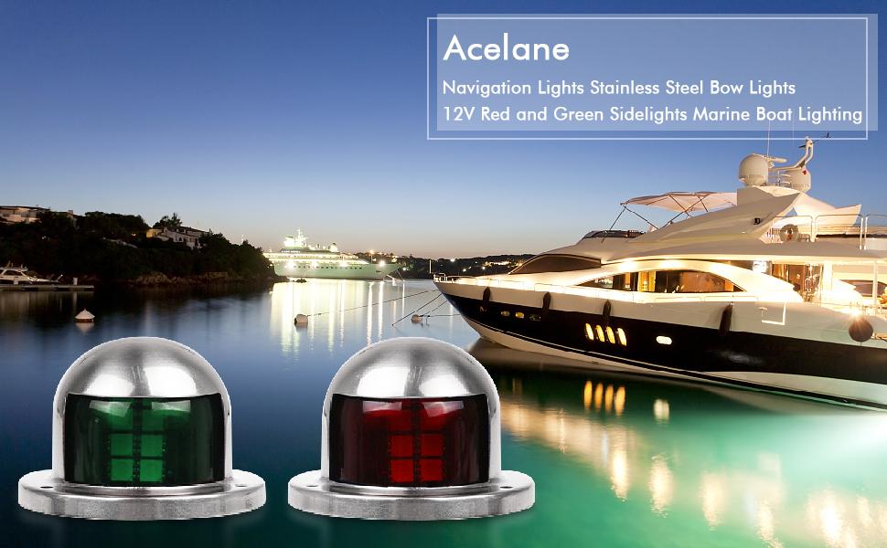 Luz de ancla marina de 360 grados impermeable luz LED universal para barcos de menos de 12 m luz de popa color blanco IP65 luces LED de navegaci/ón para barcos 250 lm 12 V Ejoyous