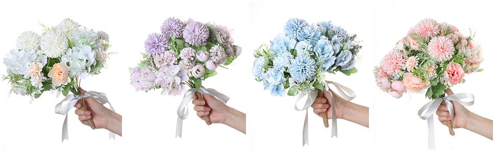 artificila flowers arrangements for wedding bouquet pink flower and purple flowers bouquet