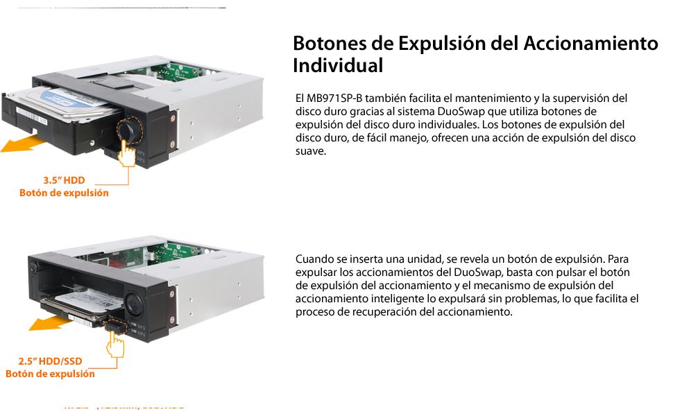 Icy Dock DuoSwap MB971SPO-B - Rack extraíble para Unidad de Disco ...