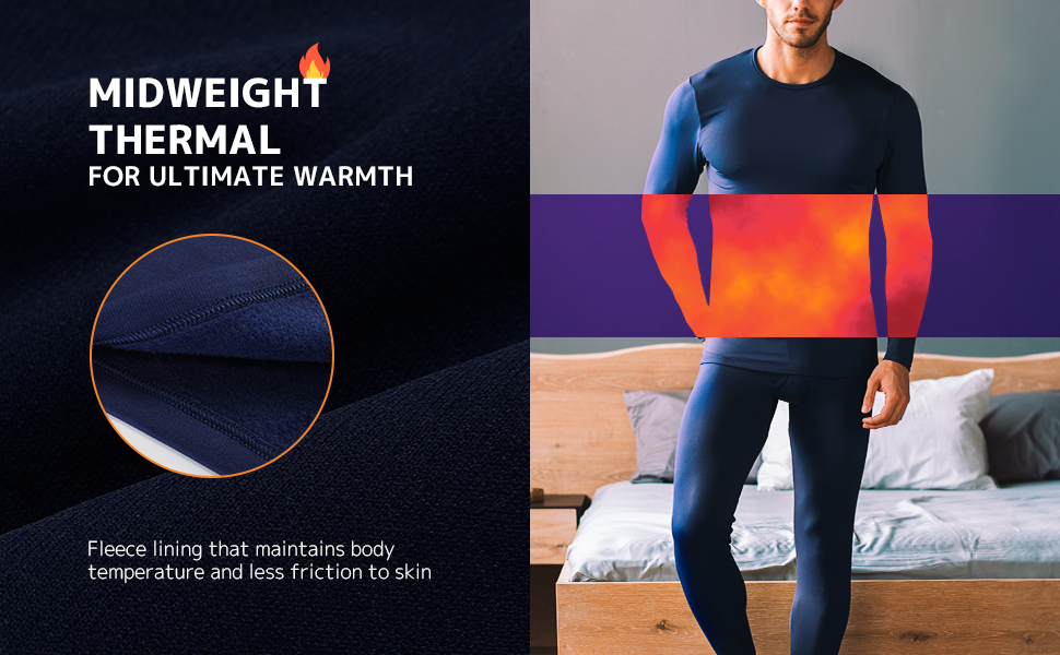 Midweight thermal for ultimate warmth