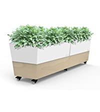 Cafe planter, glowpear, self watering, self watering planter, planter, white planter, moblie planter