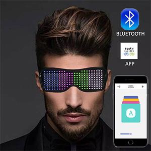 LED rechargeable Magic glasses