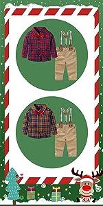 Yilaku Ropa Bebe Niño 4 Piezas Conjuntos de Otoño e Invierno Camisa de Manga Larga + Pantalón