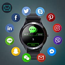 Smartwatch with calls and messages reminder