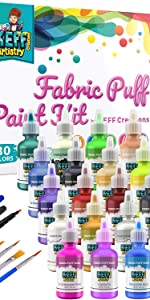 30 Color Puffy Paint kit