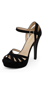High Stiletto Platform Dress Pump Heel Sandals