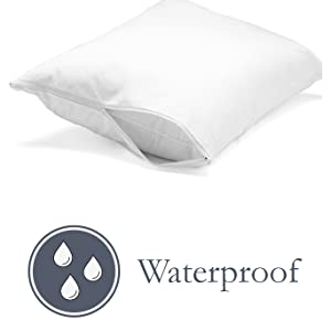 waterproof,protector,pillow,sweat,drool